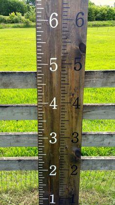Growth chart rulers, Hand painted, homemade giant rulers, measuring sicks, Kids Nursery