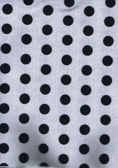 White Acrylic Felt Fabric With Black Spots - 23 x 30cm