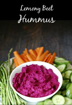 Lemony Beet Hummus Dip Snack-NGREDIENTS 2 medium - large beets 1 can chickpeas, drained and rinsed 1 clove garlic 2 Tablespoons lemon juice ½ teaspoon lemon zest 3 Tablespoons tahini a dash of cayenne salt to taste