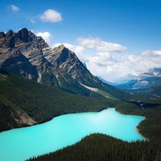 Shot from:  @tscharke  Peyto Lake #mountain #mountains #sky...