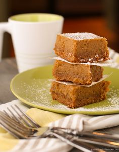 Pumpkin Butter Quick Bread Bars