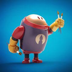#Botober ROBOTS by Steve Talkowski, via Behance