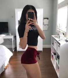 "11.9k Likes, 277 Comments - Janelle Mughannam (@cocojanelle_) on Instagram: ""Velvet shorts (discount code: Janelle) @slaygirlfashionofficial…"""