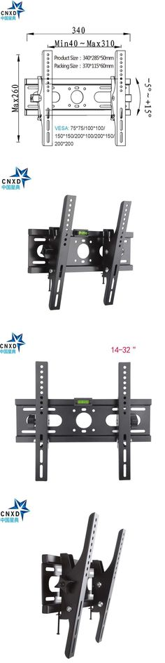 "Plasma Flat LCD TV Bracket Adjustable TV Wall Mount  Tilt 15 Degree Stand Bracket Fit for 14""-32"" Max Support 40KG/88LBS"