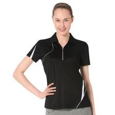 Monterey Club Ladies Dry Swing Asymmetrical Piping Contrast Shirt 2281 ** Check out the image by visiting the link.