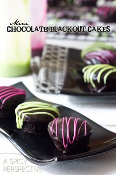 Mini Chocolate Cupcake Recipe | ASpicyPerspective.com