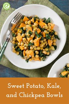 Sweet Potato, Kale, and Chickpea Bowls | eMeals.com