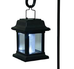 Outdoor Lantern-Style Hanging Solar-Powered LED Garden Path Light - 6 Pack - Black by Aosom. $39.97. Place in full sun for best results. Environmentally friendly; safe with no wiring required. Uses (1) AA rechargeable battery and (1) white LED bulbs per fixture (batteries and bulbs included). Set of 6 solar-powered garden / path lights automatically turn on at night--no wiring required. Operates for up to 7-10 hours of light when dark outside if fully charged. Thes...