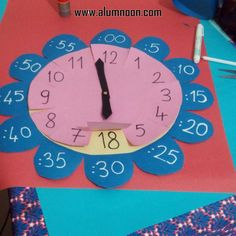 Imagem – Educação Infantil – Aluno On Teaching Time, Teaching Math, Math Classroom, Classroom Activities, Educational Activities, Preschool Activities, Math For Kids, Crafts For Kids, Clock Craft