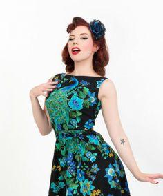 Peacock Royale Monique dress Heartbreaker fashion    Ludella Hahn (EvanSmithPhotography.com)