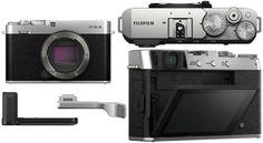 Promotie Fujifilm X-E4 Body Aparat Foto Mirrorless 26MP Argintiu Kit cu Grip MHG-XE4 si Thumb Rest TR-XE4