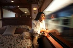The posh interiors of the Palace on Wheels.