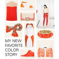"""Orange and Cream"" by splittrends on Polyvore"