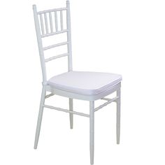 White Tiffany Chair with White Cushion