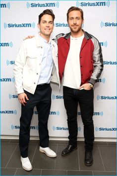 May 2016: Matt Bomer and Ryan Gosling pose for pictures at SiriusXM's Town Hall for The Nice Guys.