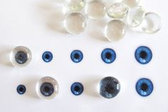 How to make glass gem eyes. Great for Halloween displays!
