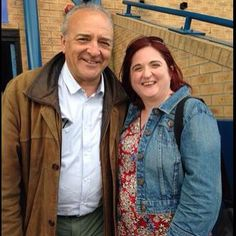 Me (Holly - BTYC) and John Bowe, Lawrence White, on 26.05.15 #Emmerdale vs British Transport Police Charity Football match at Garforth Town FC (My personal picture, please repin but do not steal)