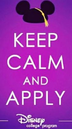 Applications went up yesterday! The Disney College Program was the best experience of my life. Do it!