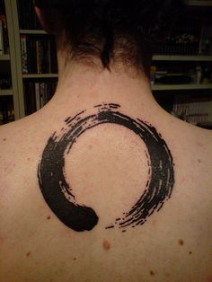 Ensō Zen Circles is an art form that is practiced amongst Zen Buddhists. It symbolizes absolute spiritual enlightenment, strength, elegance, the universe, and the void. Only a person who is mentally and spiritually complete can draw a true Ensō with one stroke. I always thought this would be a cool tattoo idea.