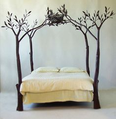 Pretty bed frame, I love trees.