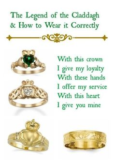 How to Choose a Claddagh Ring and What it Means. How To Choose A Engagement Ring Irish Quotes, Irish Sayings, Claddagh Rings, Claddagh Engagement Ring, Irish Claddagh Tattoo, Claddagh Wedding Ring, Engagement Rings, Irish Pride, Celtic Wedding Rings
