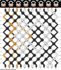 Penguin Friendship Bracelet Pattern- Heidi