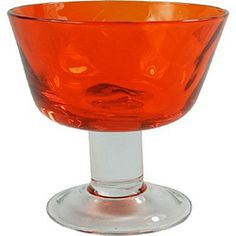 Taça de Vidro para Sobremesa Laranja 380ml - Home Design