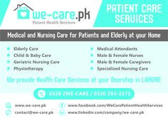 Healthcare services provided by We-Care.pk in Lahore Geriatric Nursing, Nursing Care, Elderly Care, Caregiver, Baby Care, Health Care, Baby Kids, Medical, Medicine