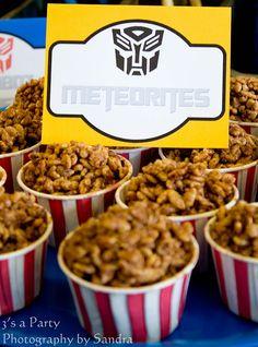 Transformers Birthday Party  METEORITES! Cute!!