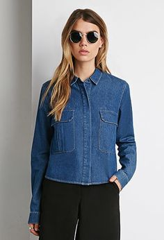 Lumiere fashion denim top as seen on -NEW ARRIVALS | WOMEN | Forever 21