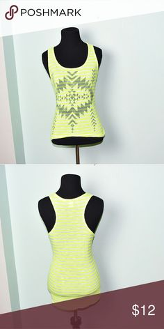 Adorable Yellow Striped Print Top In excellent condition! Very comfortable, lightweight, and flattering! Buy 3 items and get 1 free plus 15% off your purchase total! Tops