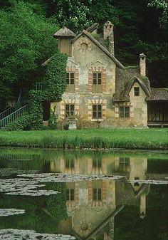 Marie Antoinette's hamlet at Versailles.  I visited Versailles it is breathtaking.