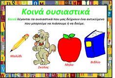 OYSIASTIKA ΓΛΩΣΣΑ Β΄ ΤΑΞΗΣ Greek Language, Second Grade, Grammar, Classroom, Teacher, School, Fictional Characters, Professor, Grade 2