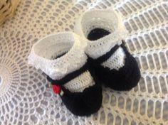 Thread crochet Mary Janes