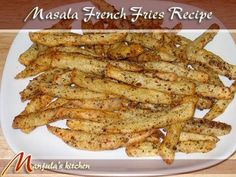 Masala French Fries Recipe by Manjula, Indian vegetarian gourmet - YouTube