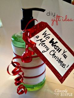 We Wash You  A Merry Christmas Hostess Gift!  A very simple DIY gift idea that is useful!