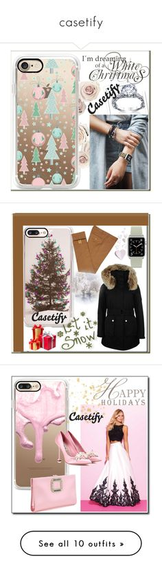 """casetify"" by crvenamalina ❤ liked on Polyvore featuring Casetify, Diverso, K100 Karrimor, Madison James, Roger Vivier, Miu Miu, Badgley Mischka, Whiteley, Steve Madden and Tim Holtz"