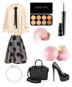 """""""Untitled #70"""" by cris-conde ❤ liked on Polyvore featuring H&M, Rochas, Givenchy, Tiffany & Co., MAC Cosmetics, NARS Cosmetics and Eos"""
