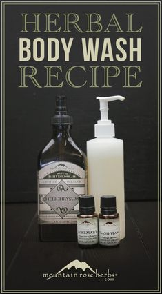 DIY Spring Sea Salt Body Wash recipe from Mountain Rose Herbs.