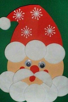 Mód-Szer-Tár added a new photo. Santa Crafts, Christmas Crafts For Kids, Xmas Crafts, Christmas Art, Christmas Wreaths, Paper Crafts, Winter Crafts For Toddlers, Diy Crafts For Kids, Art For Kids