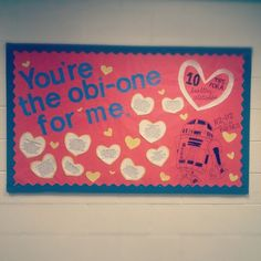 Valentine's Day Star Wars Bulletin Board! RA Ideas!