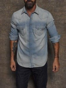 #review: Georges Marciano #denim shirts: http://www.cefashion.net/spotlight-georges-marciano-denim-shirts #fashion #men