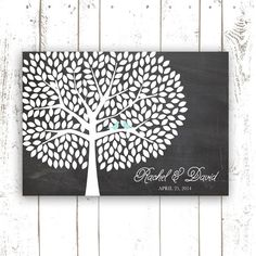 Guest Book Tree Chalkboard Wedding Guest by MooseberryPrintShop, $64.00