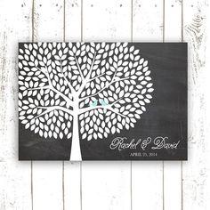 Guest Book Tree Chalkboard Wedding Guest by MooseberryPrintShop, $64.00