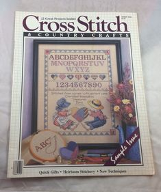 CROSS STITCH /& COUNTRY CRAFTS Magazine Back Issue Mar Apr 1991 91  25 projects