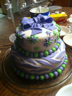 Cake I made for my sister's baby shower
