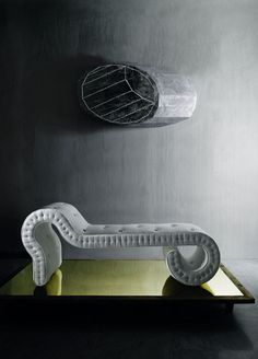 Chaise longue, by Monica Förster and Vispring