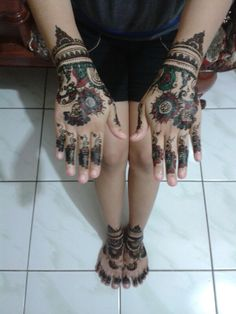 Picture of my henna,, for H-1 ♥ #weddingday