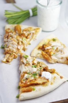 You won't want to stop after one slice! Buffalo Chicken Pizza!