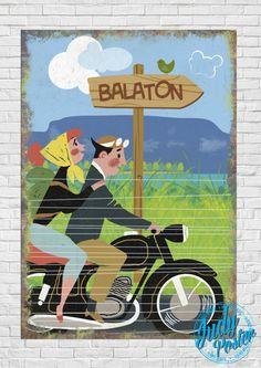 BALATON : Motoros Balaton Táblakép